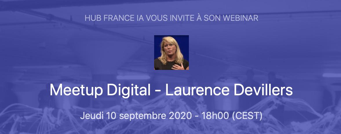 Séminair | Meetup Digital - Laurence Devillers
